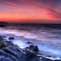 Buy canvas prints of Wisemans Bridge Beach Before Sunrise by Simon West