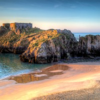 Buy canvas prints of St Catherines Island Tenby by Simon West