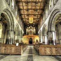 Buy canvas prints of Saint Davids Cathedral, Pembrokeshire by Simon West