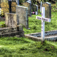 Buy canvas prints of Dylan Thomas Grave by Simon West