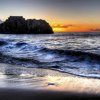 Buy canvas prints of Saint Catherines Island, Tenby by Simon West