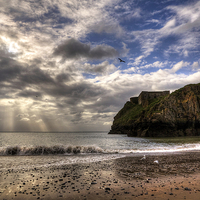 Buy canvas prints of St. Catherines Island, Tenby by Simon West