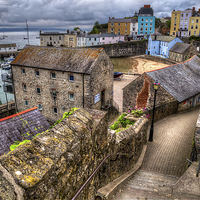 Buy canvas prints of Down to Tenby Harbour by Simon West