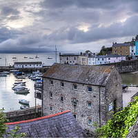 Buy canvas prints of Tenby Harbour Panoramic by Simon West