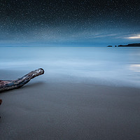Buy canvas prints of Driftwood on Coppet Hall beach by Simon West