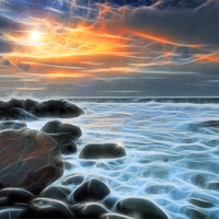 Buy canvas prints of North Devon Sunset by nick woodrow