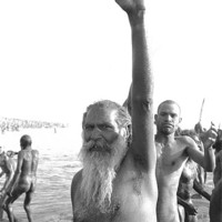 Buy canvas prints of Sadhus at the Mahakumbhmela India by Peter Spenceley