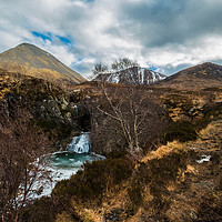 Buy canvas prints of The frozen waterfall on Allt Daraich. by Richard Smith