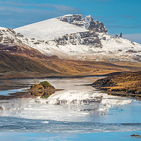 Buy canvas prints of The Storr partially reflected in the Storr Lochs by Richard Smith
