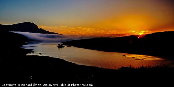 Sunrise at Storr Lochs Canvas Print by Richard Smith