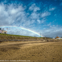 Buy canvas prints of Rainbow at Aberdeen Beach by Vicky Mitchell