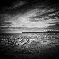 Buy canvas prints of Aberdeen Beach by Vicky Mitchell
