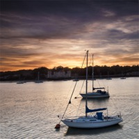 Buy canvas prints of Yachts at Sunset by Nigel Jones