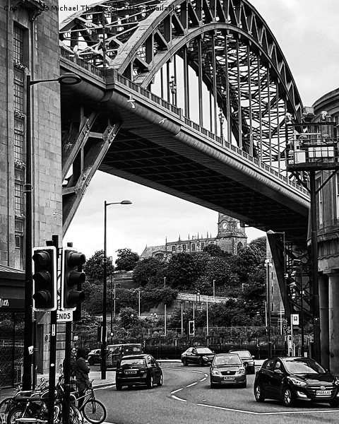 Tyne Bridge  Canvas Print by Michael Thompson