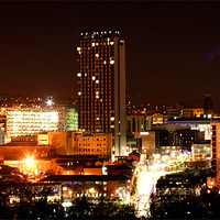 Buy canvas prints of Sheffield City by Night by carl wood