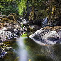 Buy canvas prints of Summer At Fairy Glen  by Ian Mitchell