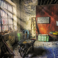Buy canvas prints of Olde Victorian Slate Workshop  by Ian Mitchell