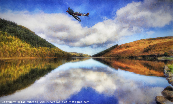 Spitfire Lake Flight  Canvas Print by Ian Mitchell
