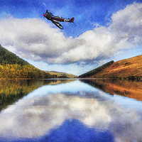 Buy canvas prints of Spitfire Lake Flight  by Ian Mitchell
