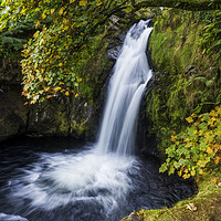 Buy canvas prints of Snowdonia Waterfall by Ian Mitchell