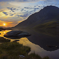 Buy canvas prints of Tryfan Sunrise by Ian Mitchell