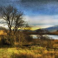 Buy canvas prints of Snowdonia Autumn Lake by Ian Mitchell