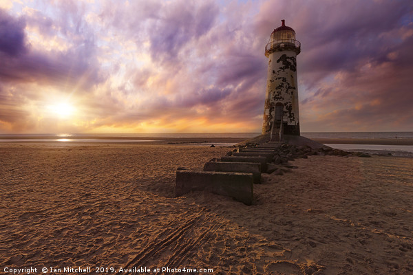 Talacre Lighthouse Print by Ian Mitchell