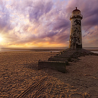 Buy canvas prints of Talacre Lighthouse by Ian Mitchell