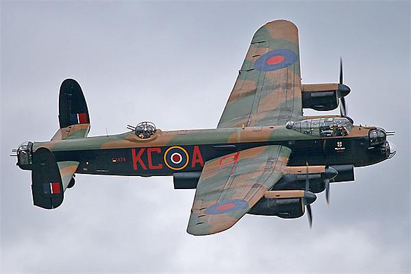 BBMF Lancaster bomber topside Canvas print by Rachel & Martin Pics