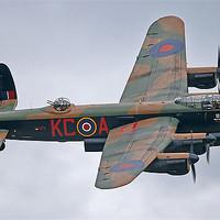 Buy canvas prints of BBMF Lancaster bomber topside by Rachel & Martin Pics