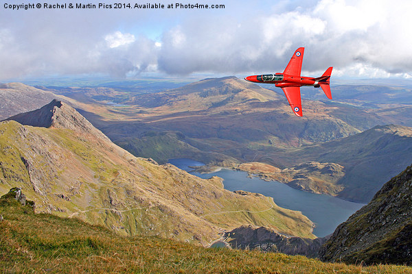 Red Arrow Low level Canvas print by Rachel & Martin Pics