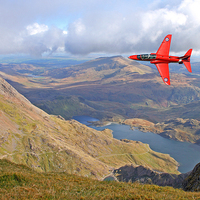 Buy canvas prints of  Red Arrow Low level by Rachel & Martin Pics