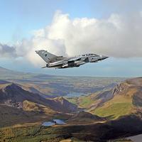 Buy canvas prints of  RAF Tornado low level by Rachel & Martin Pics