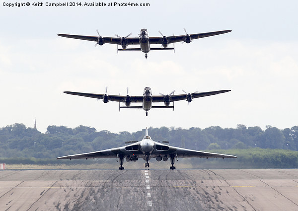 AVRO Trio Canvas print by Keith Campbell