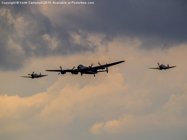 BBMF Trio - Lancaster and Spitfires Canvas Print by Keith Campbell