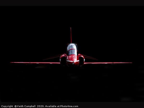 RAF Red Arrows Hawk Canvas Print by Keith Campbell
