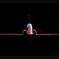 Buy canvas prints of RAF Red Arrows Hawk by Keith Campbell