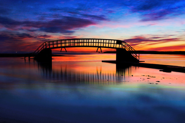 Bridge to nowhere Canvas print by J C