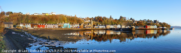 Tobermory  Panoramic Canvas print by Lady Debra Bowers L.R.P.S