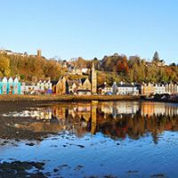 Buy canvas prints of Tobermory  Panoramic by Lady Debra Bowers L.R.P.S