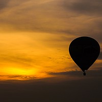 Buy canvas prints of Sunset Balloon by Alex Inman