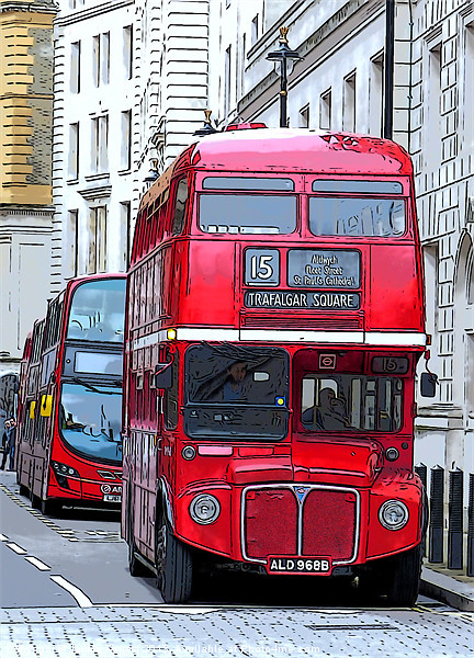 London Routemaster Print by Jackie Forrest
