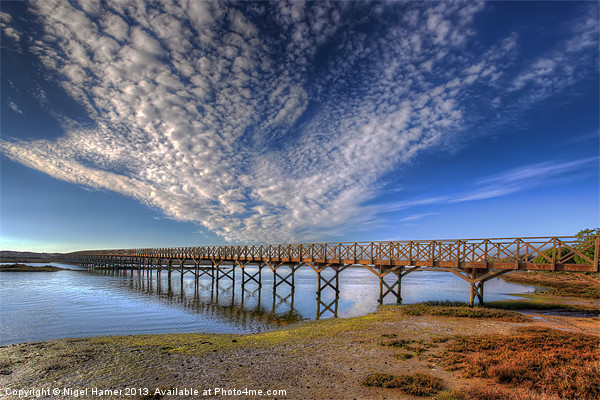 Quinta do Lago Wooden Bridge Canvas print by Nigel Hamer