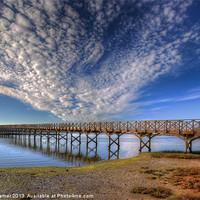 Buy canvas prints of Quinta do Lago Wooden Bridge by Nigel Hamer