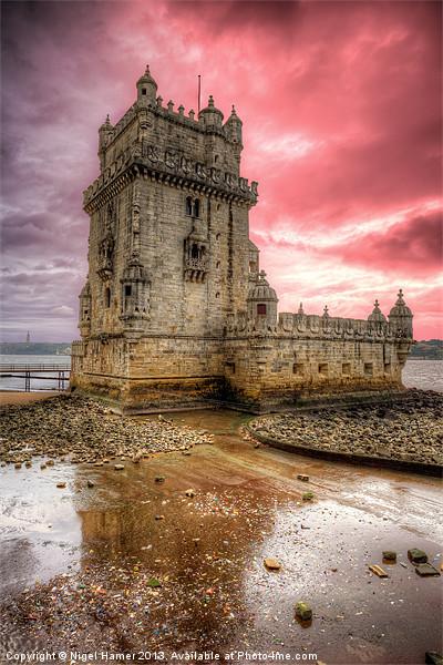 Torre de Belem Lisbon Canvas Print by Nigel Hamer