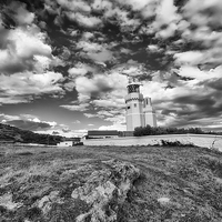 Buy canvas prints of St Catherines Lighthouse BW by Nigel Hamer