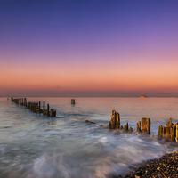 Buy canvas prints of Bembridge Harbour Wave Break by Nigel Hamer