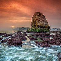 Buy canvas prints of Stag Sunset by Wight Landscapes