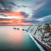 Buy canvas prints of The Needles Sunset LE by Wight Landscapes