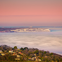 Buy canvas prints of Fog Over The Bay by Wight Landscapes